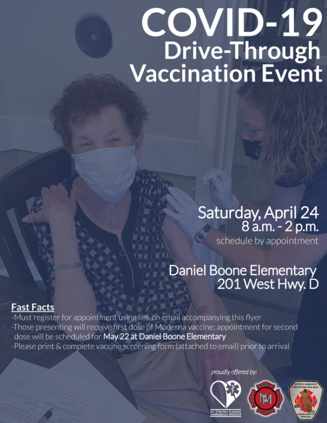 New Melle Drive-Through Vaccination Event