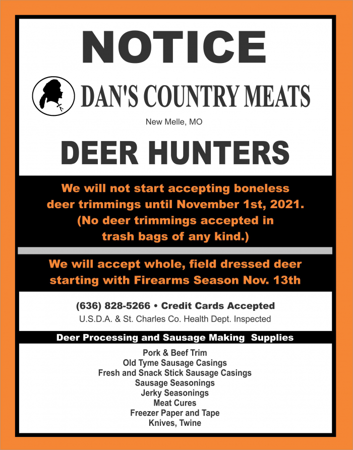 Dan's Country Meats, New Melle, Flyer