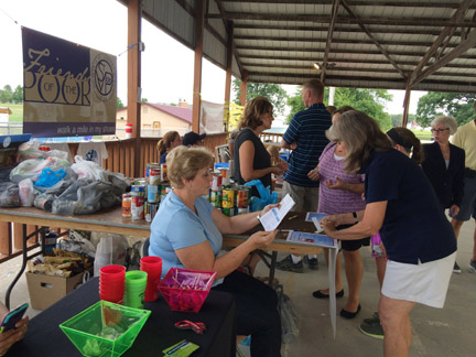 New melles first national night out was well attended for St vincent de paul food pantry rogers ar