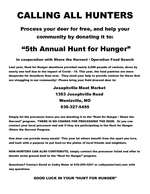 Hung for Hunger 2021 Flyer