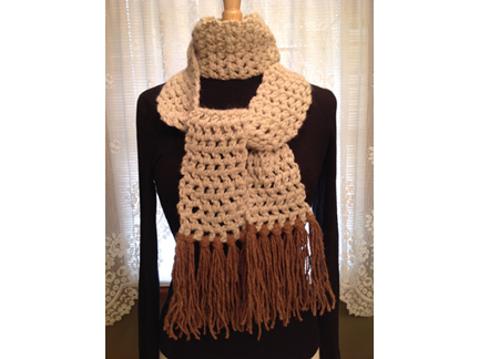 7. Carol Hudgens scarf  brown cream web IMG_0621
